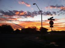 Cielo de la puesta del sol Imagen de archivo libre de regalías