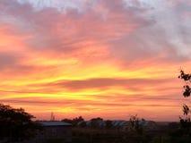Cielo de la puesta del sol Imágenes de archivo libres de regalías
