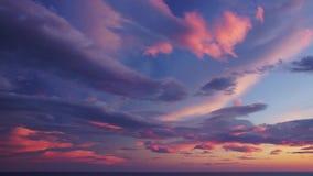 Cielo de la puesta del sol almacen de video