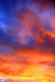 Cielo de la puesta del sol en el verano Fotografía de archivo libre de regalías