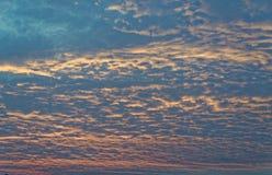 Cielo de la puesta del sol en Tailandia Fotografía de archivo libre de regalías