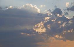 Cielo de la puesta del sol sobre Bruce Peninsula Foto de archivo libre de regalías
