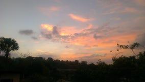 Cielo de la salida del sol Foto de archivo libre de regalías