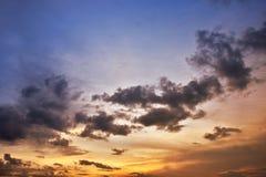 Cielo de la tarde Fotos de archivo libres de regalías