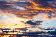 Cielo de la tarde Foto de archivo