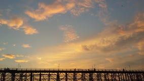 Cielo de la tarde Fotos de archivo