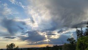 Cielo de la tarde del condado de Placer Fotografía de archivo