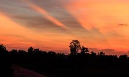 Cielo de la tarde en Tailandia Imágenes de archivo libres de regalías