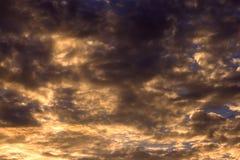 Cielo de la tormenta del fondo Imagen de archivo