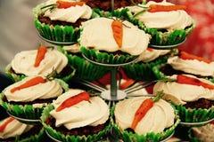 Cielo de la torta de zanahoria Imágenes de archivo libres de regalías