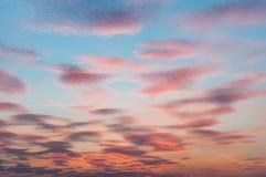 Cielo de la vainilla Fotos de archivo libres de regalías