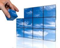 Cielo de los cubos ilustración del vector