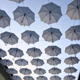 Cielo de los paraguas Imagenes de archivo
