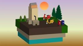 Cielo de los vespas de Three-dimensionalOffice Libre Illustration