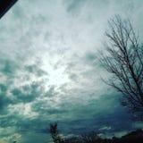 Cielo de media mañana Foto de archivo