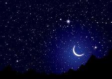 Cielo de noches del espacio Foto de archivo