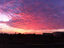 Cielo de Oklahoma foto de archivo