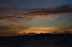 Cielo de oro Foto de archivo libre de regalías