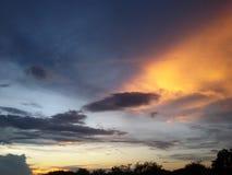 Cielo de oro Foto de archivo