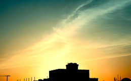 Cielo de oro Imagen de archivo libre de regalías