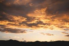 Cielo de oro Fotografía de archivo libre de regalías