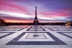 Cielo de París en el fuego Fotografía de archivo libre de regalías