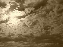 Cielo de Sépia foto de archivo libre de regalías