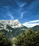 Cielo de Serre-Poncon Fotos de archivo
