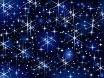 Cielo de Starbright, chispa de la Navidad stock de ilustración