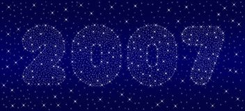 Cielo del Año Nuevo 2007 Imagenes de archivo