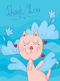 Cielo del adiós del gato Fotografía de archivo libre de regalías