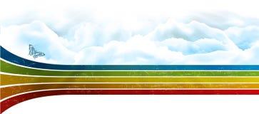 Cielo del arco iris stock de ilustración