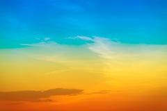 Cielo del arco iris Fotografía de archivo libre de regalías