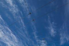 Cielo del cable Foto de archivo libre de regalías