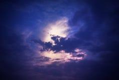 Cielo del claro de luna Foto de archivo libre de regalías