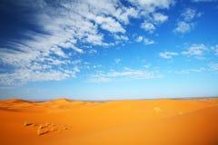 Cielo del desierto Fotos de archivo libres de regalías