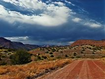 Cielo del desierto foto de archivo