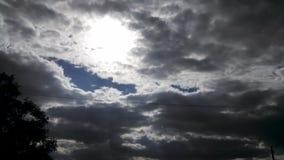 Cielo del fiume Fotografia Stock