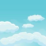 Cielo del fondo con le nuvole Fotografie Stock