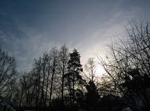 Cielo del frío del invierno Imagenes de archivo