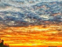 Cielo del fuego Fotos de archivo