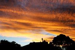Cielo del fuoco Fotografia Stock