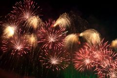 Cielo del fuoco d'artificio Fotografia Stock