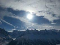 Cielo del invierno Fotografía de archivo