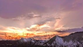 Cielo del invierno Fotos de archivo