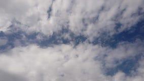 Cielo del lapso de tiempo con las nubes de nimboestrato amorfas oscuras que mueven lento llevado por el viento almacen de video
