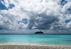 Cielo del mar del Caribe Foto de archivo