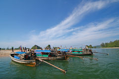Cielo del mar del barco de Tailandia Foto de archivo