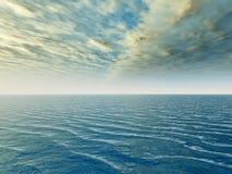 Cielo del mare Fotografia Stock