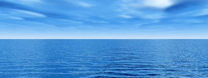 Cielo del mare Fotografie Stock